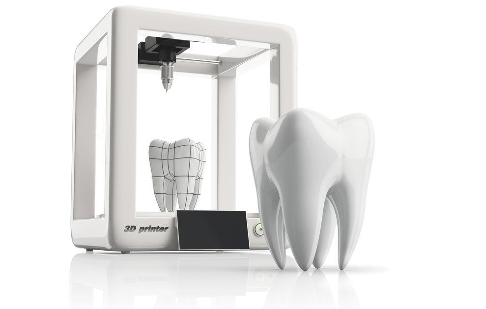 Imprimen dientes en 3D con un material que mata bacterias