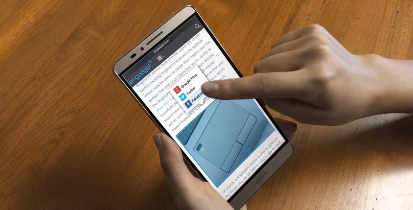 Synaptics presenta pantalla para smartphones que responde a la presión del dedo