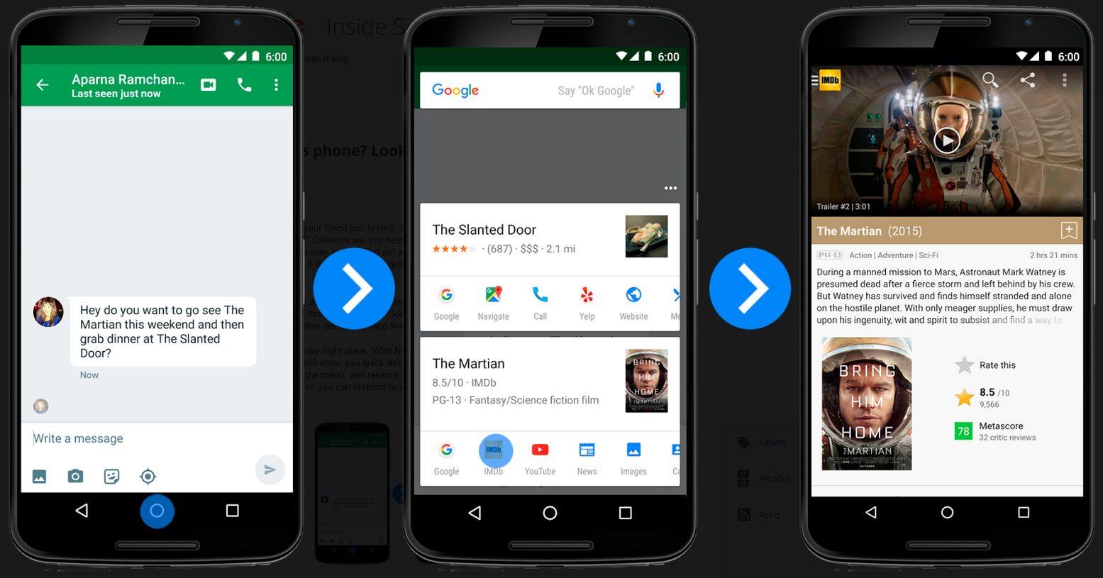 Now on Tap, y otras funciones exclusivas para Android 6.0 Marshmallow