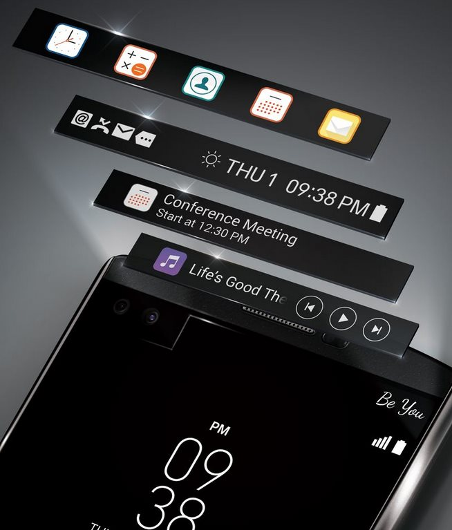 LG presenta el V10, un móvil premium con dos pantallas y tres cámaras