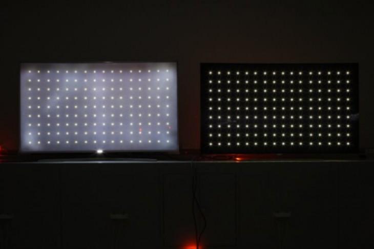 Efecto de la polución de luz en una TV