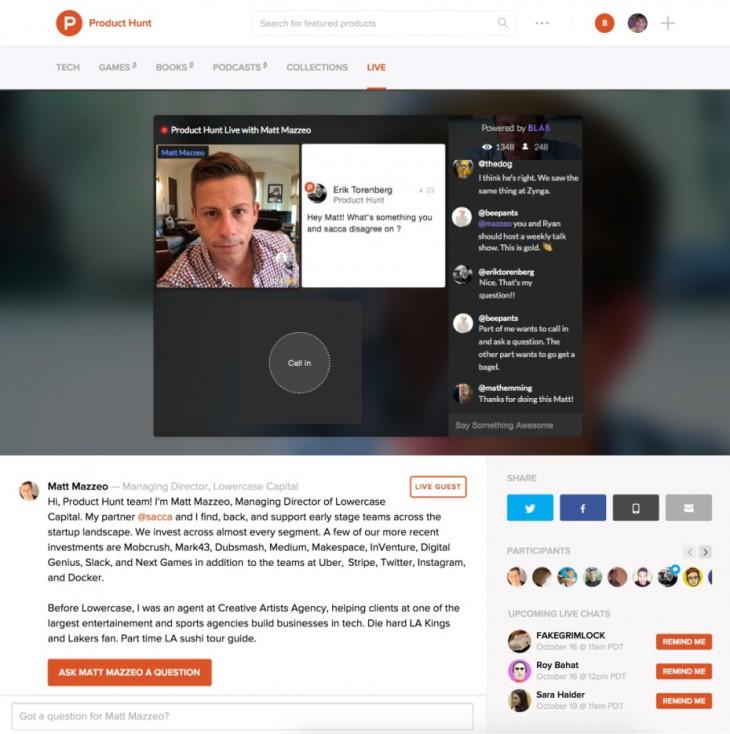 product-hunt-live-matt-mazzeo