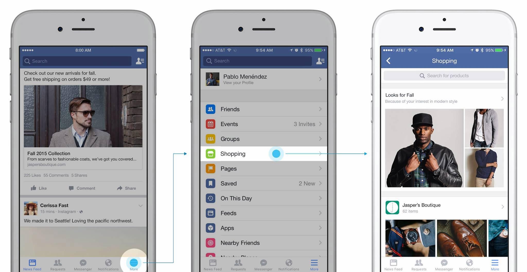 Facebook lanza dos nuevas funcionalidades de comercio electrónico en pruebas