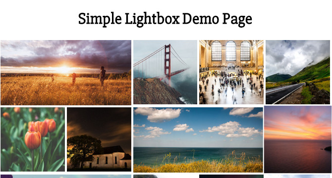 Simple Lightbox: Lightbox Para Imagenes Que Soporta Interaccion Touch