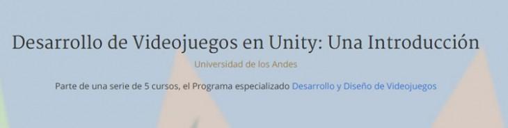 Desarrollo de  videojuegos en unity