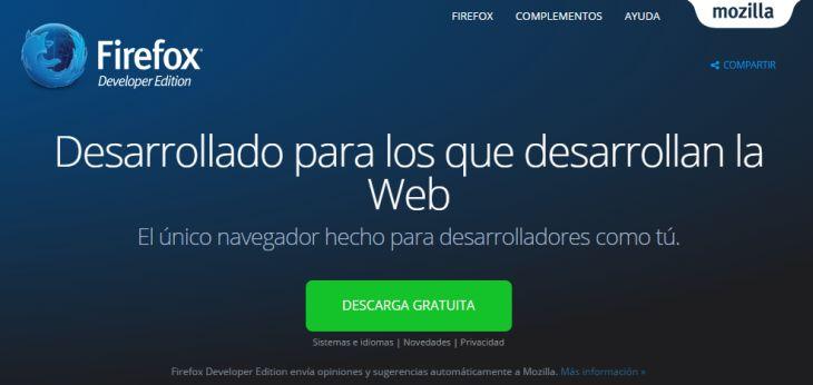 Firefox 44 Developer Edition trae nuevas herramientas de edición visual y de gestión de memoria