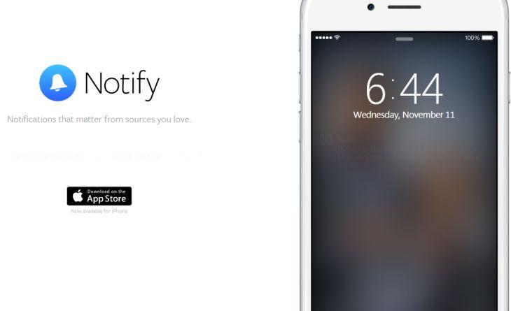 Facebook lanza Notify, su aplicación móvil independiente de notificaciones informativas