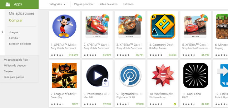 apps de pago google play