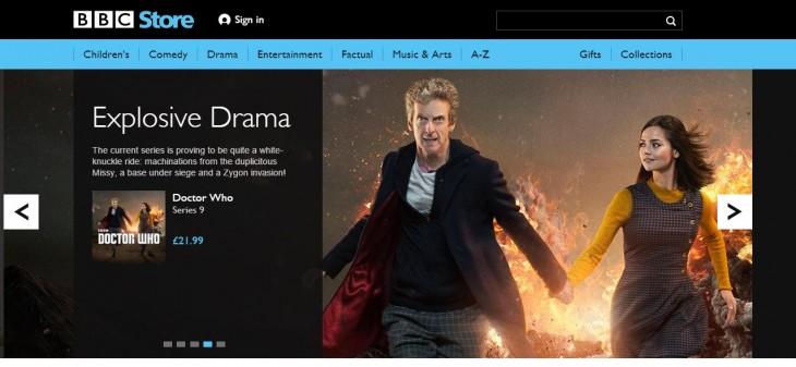 Aspecto de la nueva BBC Store