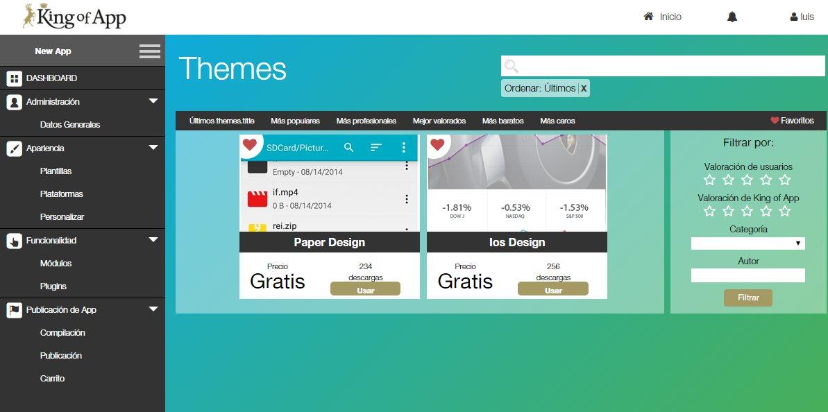 King of App, el CMS para crear apps móviles, ya es de código abierto