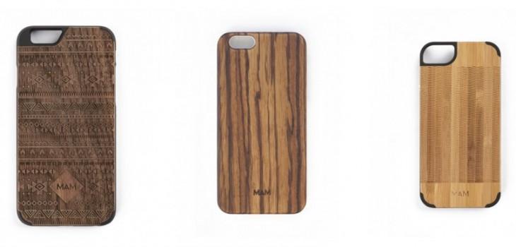 Fundas móviles de madera