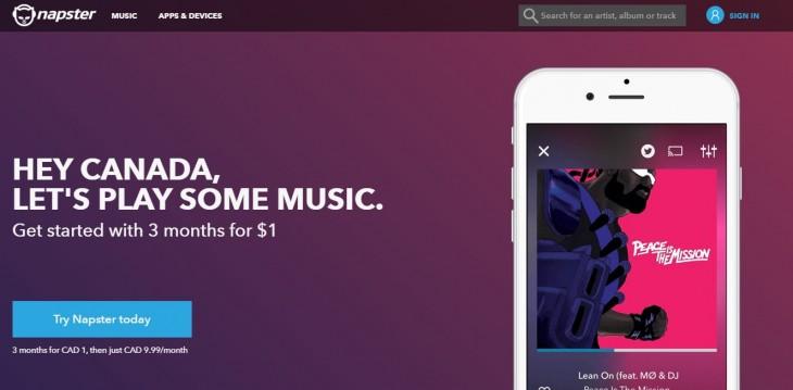 Napster en Canadá