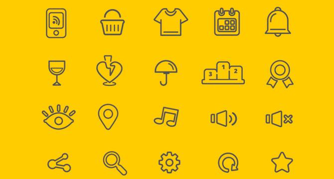 75 Iconos Vector Gratis En Estilo Linea
