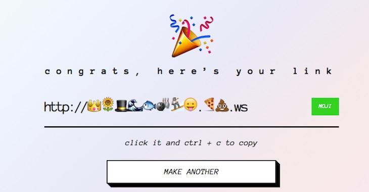 Linkmoji, para acortar URLs utilizando emojis