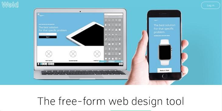 Weld, herramienta online para publicar páginas web sencillas en cuestión de minutos