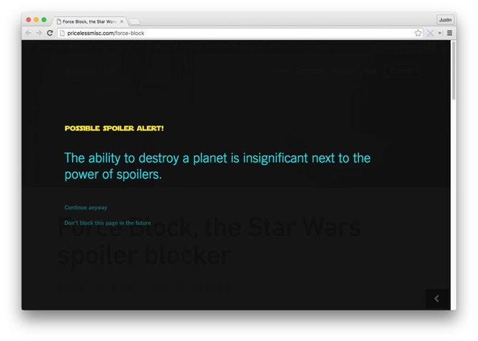 bloqueo spoilers star wars