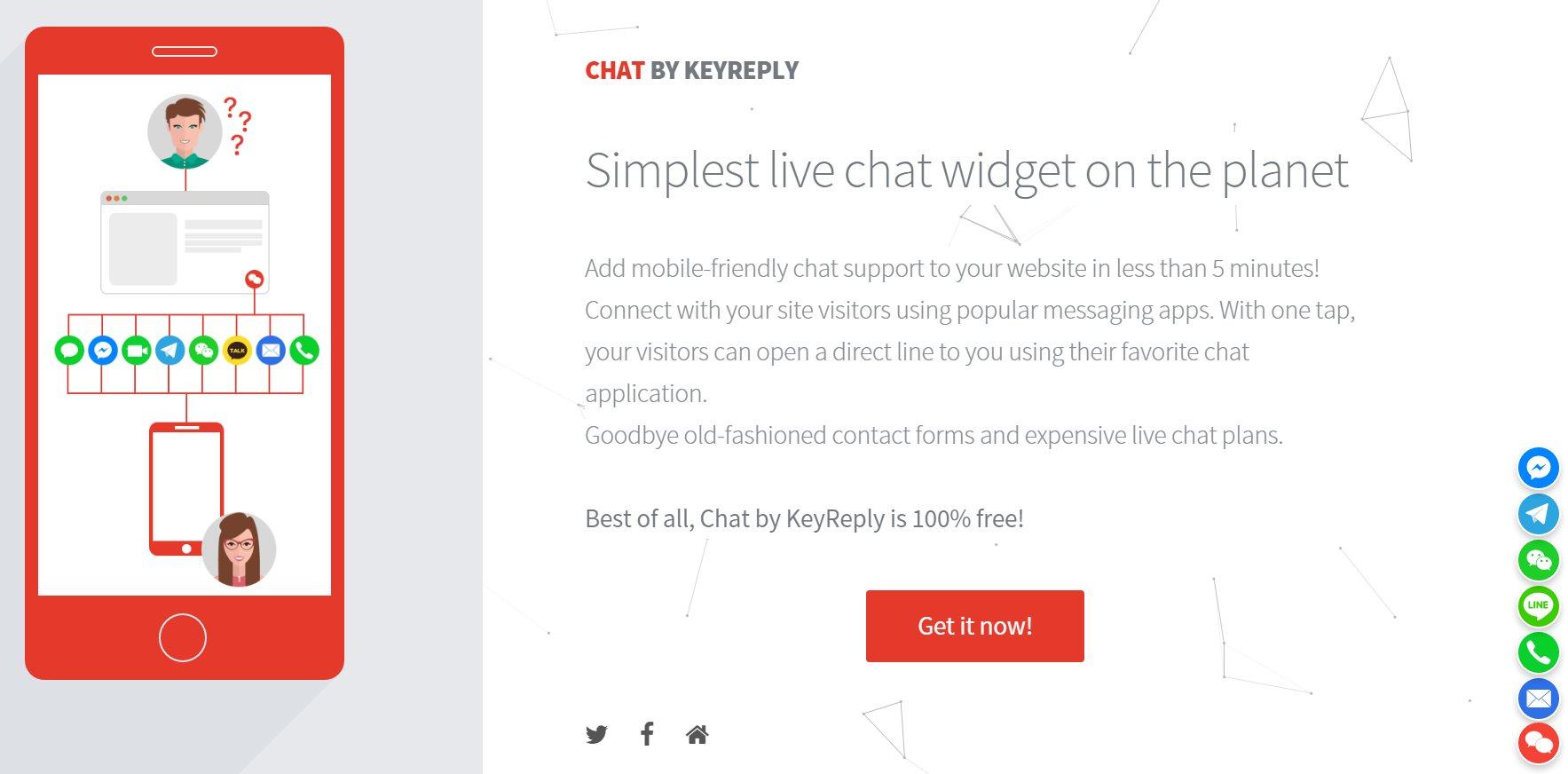 Una práctica forma de ofrecer un chat a los visitantes de nuestra web