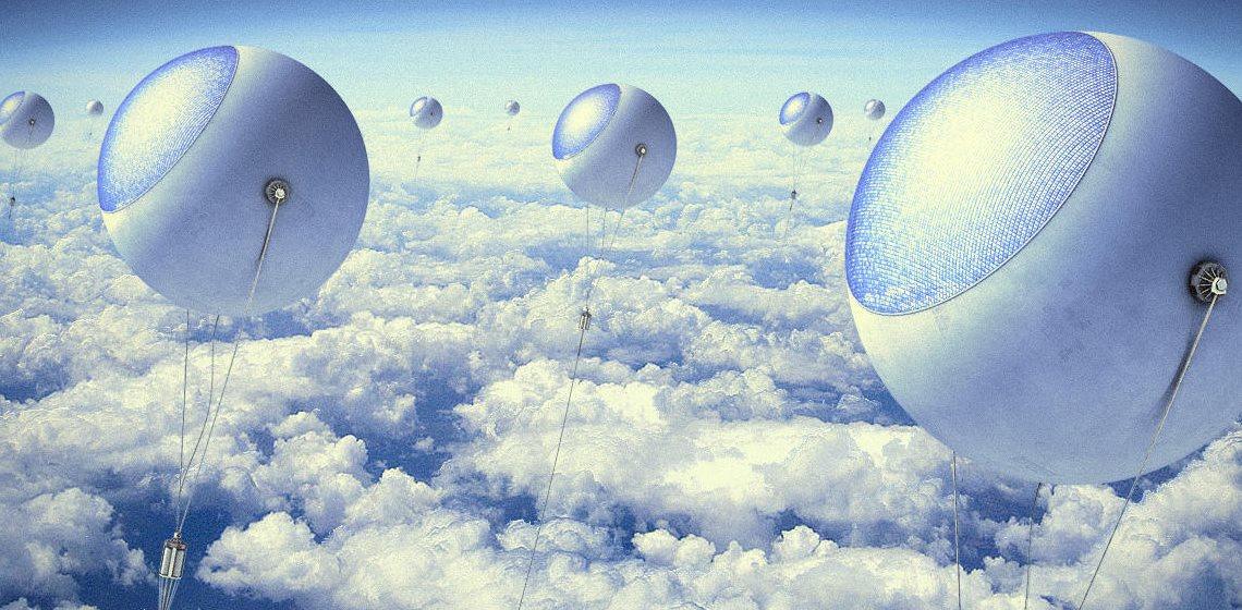 Obteniendo energía solar por encima de las nubes
