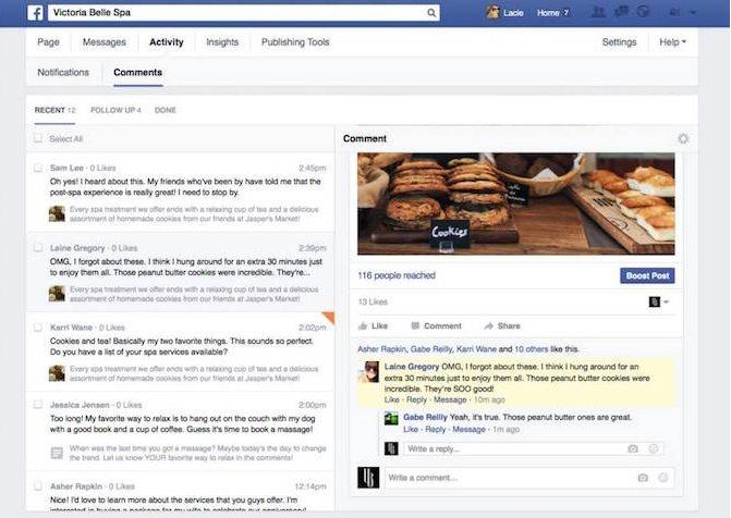 Nueva sección de contactos en Facebook