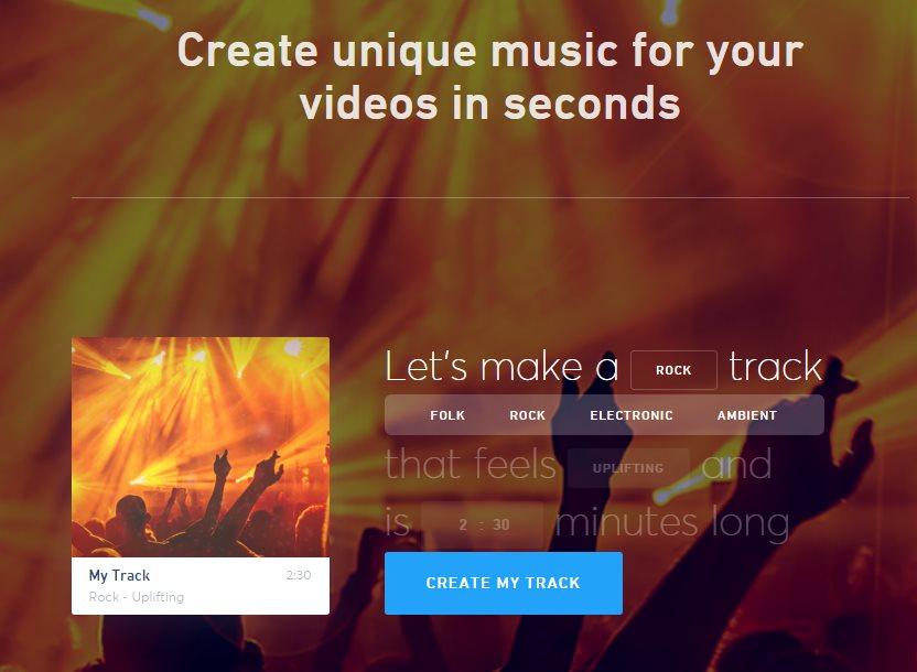 jukedeck, para crear música de fondo para nuestros vídeos, única e irrepetible