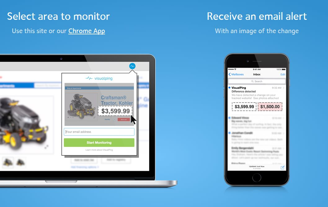 VisualPing, para detectar cambios en sitios web, lanza versión gratuita