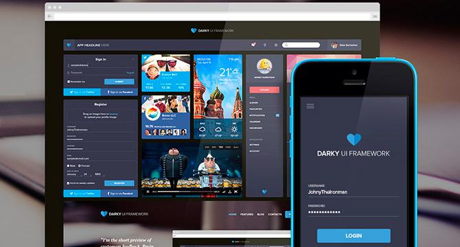 Darky: Kit De UI Para Applicaciones Web