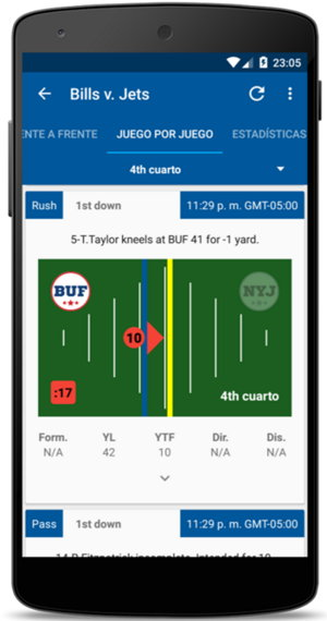 estadisticas nfl android