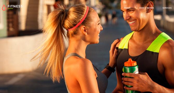 Fitness : Plantilla Web En PSD Para Gimnasios