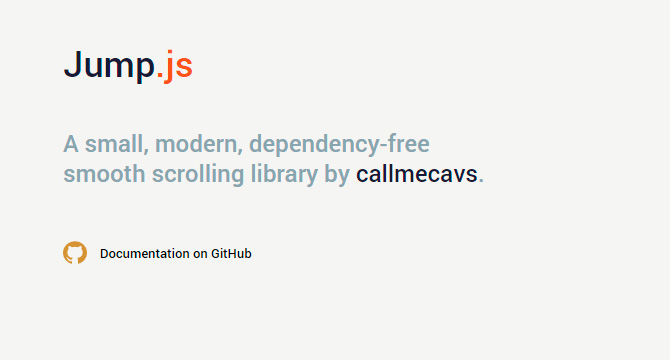 Jump.js: Libreria De Scrolling Fluido