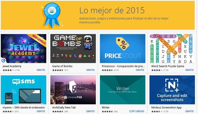 Las Mejores Apps Juegos Y Extensiones De Chrome Del 2015 Segun Google
