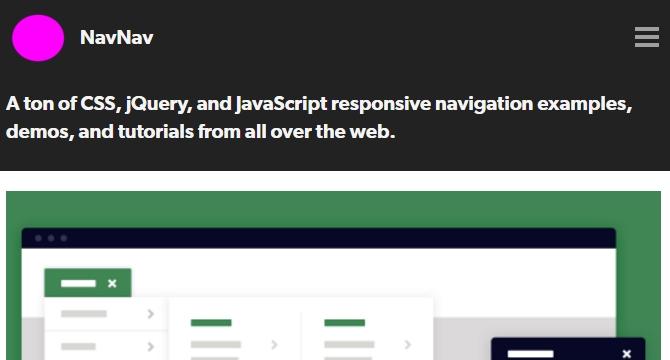 NavNav: Coleccion De Menus De Navegacion, Tutoriales, Y Ejemplos En CSS, jQuery, JavaScript
