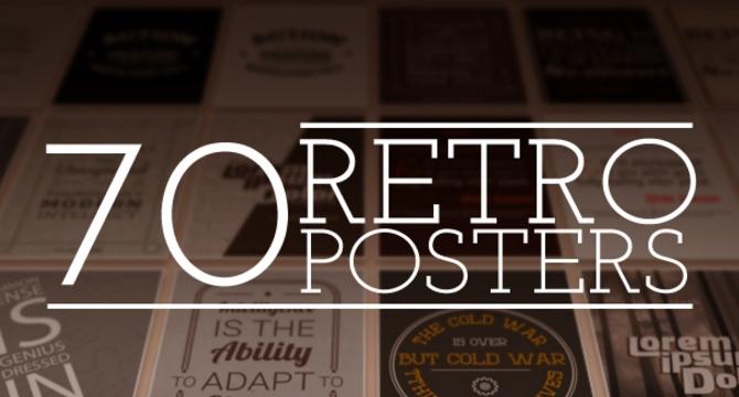 Pack De 70 Diseños De Poster Estilo Retro