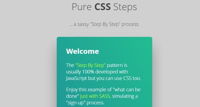 Pasos De Registro En Puro CSS
