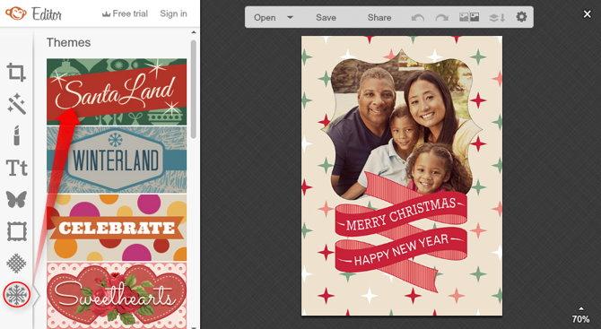 Hacer postal de navidad personalizada online