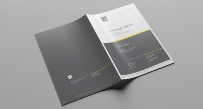 Plantilla De Bifolio En Formato InDesign