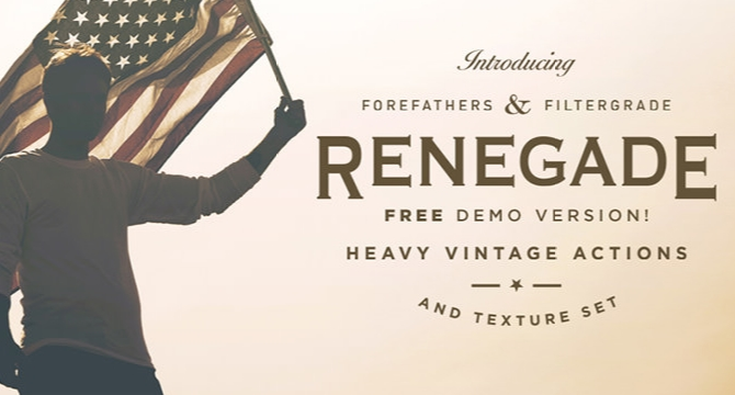 Renegade: Set De 4 Filtros Retro Para Photoshop