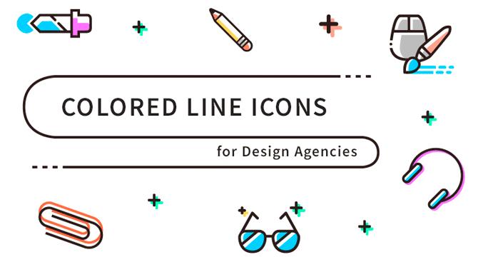 Set De Iconos En Estilo Linea Y Color