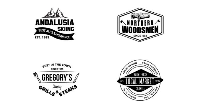 Set De Logos Estilo Vintage
