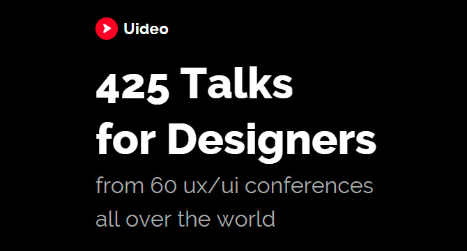 Uideo: 425 Videos Para Diseñadores De Mas De 60 Conferencias