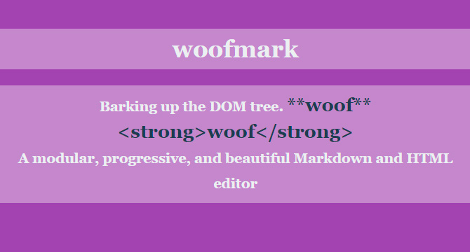 Woofmark: Editor Modular De Markdown Y HTML