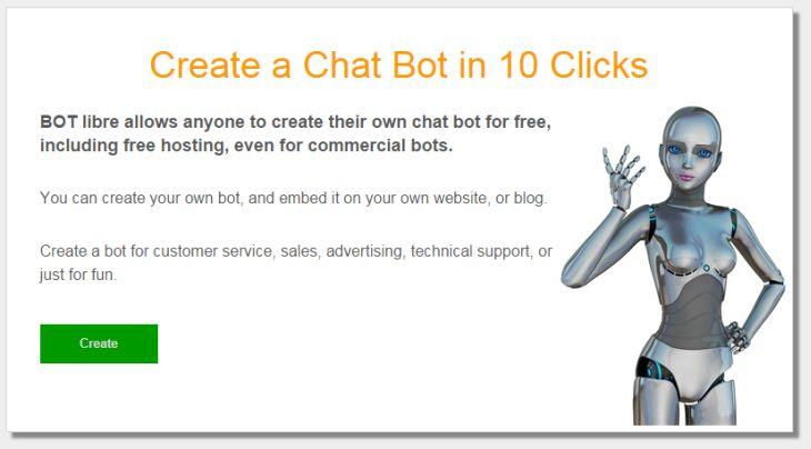 Bot Libre, plataforma de código abierto para la creación de bots