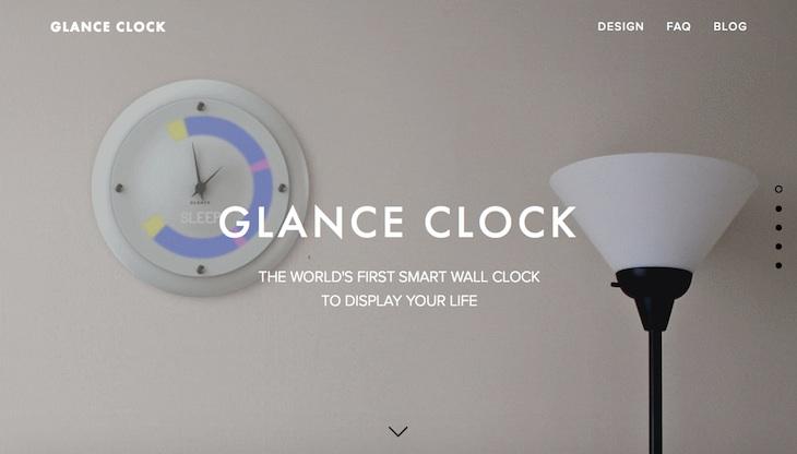 Glance Clock, reloj de pared que muestra información de dispositivos inteligentes