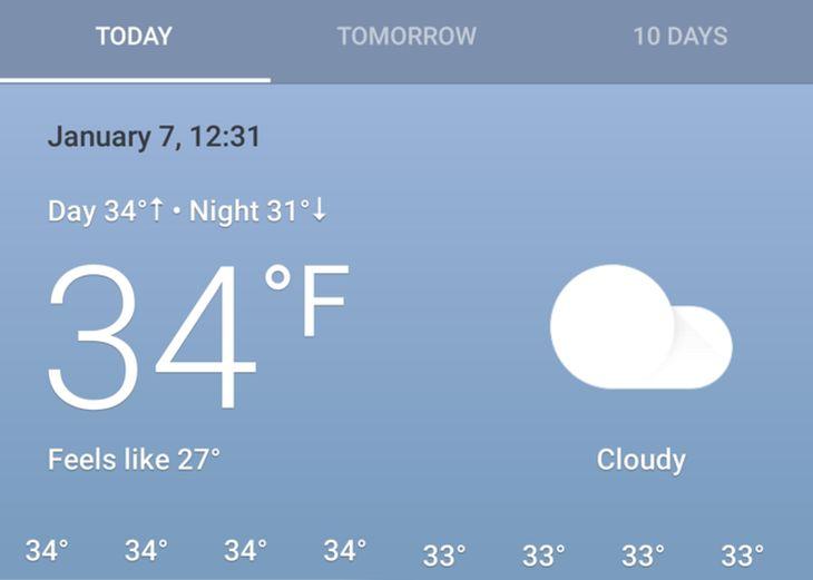 Google prueba un nuevo diseño para su tarjeta del tiempo