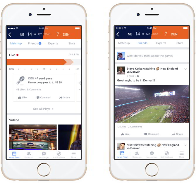 app facebook deportes optimizada