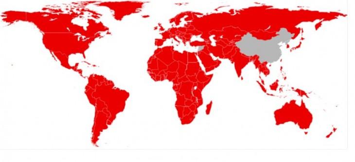 Países cubiertos por Netflix