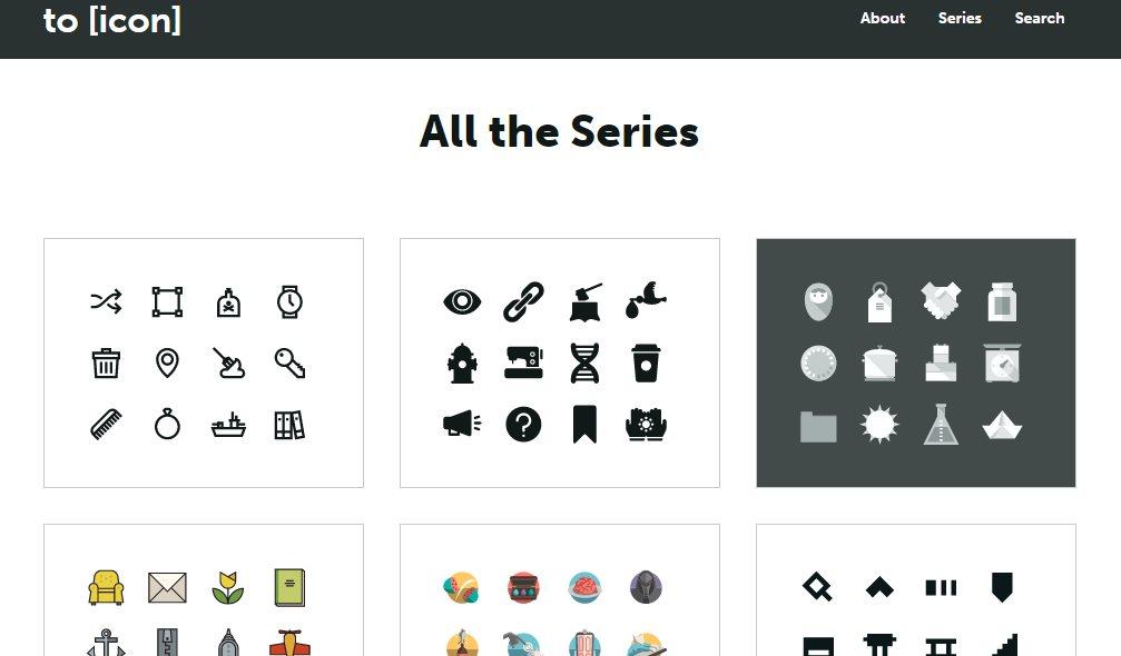 toicon, excelente colección de iconos gratuitos que representan acciones