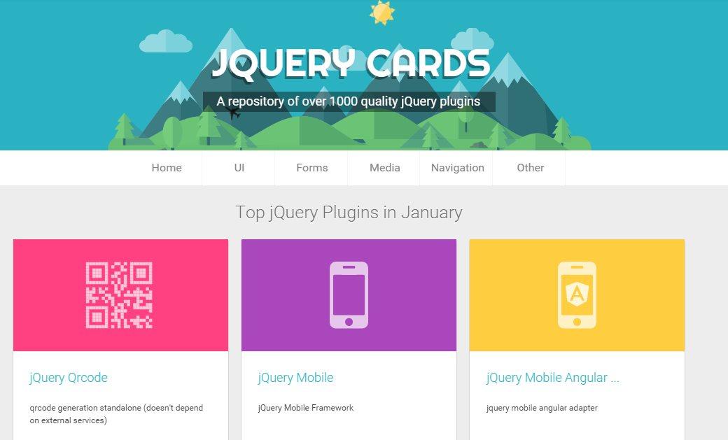 jquerycards, más de 1.000 plugins para quien trabaja con jquery