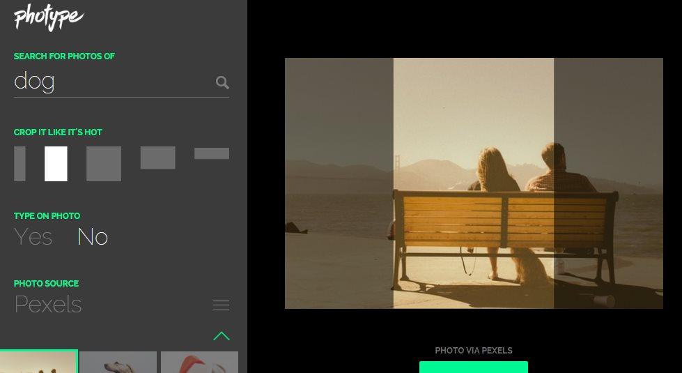 photype, una práctica forma de encontrar y editar fotos en Internet