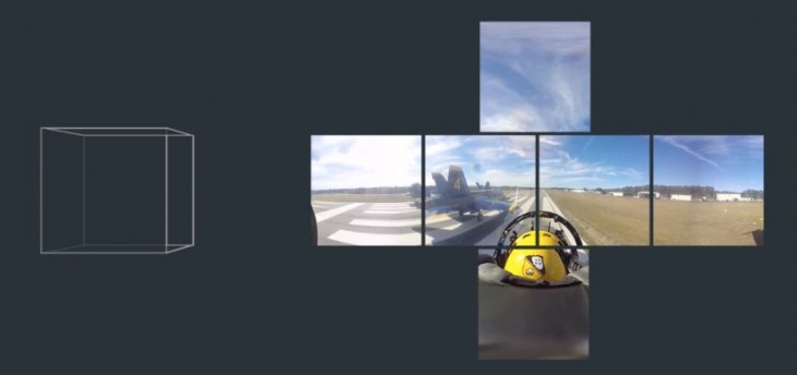 Transformación de vídeos 360 grados en cubos