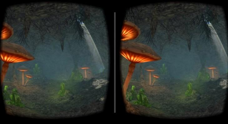 Escenas de VR Cave Flythrough